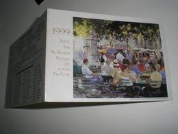 Calendrier De Poche 1999 La POSTE, Voeux De Votre Facteur  ( Petit, Mini, Publicitaire) - Calendriers