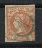 España. 1860.  Isabel II. Rueda De Carreta Nº 1 (Madrid) - 1850-68 Kingdom: Isabella II