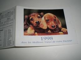 Calendrier De Poche 1998 La POSTE, Voeux De Votre Facteur  ( Petit, Mini, Publicitaire) - Calendriers