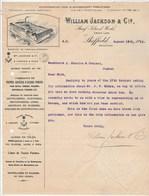 Royaume Uni Facture Lettre Illustrée 19/8/1912 William JACKSON Sheaf Island Works - Acier - SHEFFIELD - Royaume-Uni