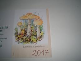Calendrier De Poche 2017 Simatis Champignons ( Petit, Mini, Publicitaire) - Calendriers