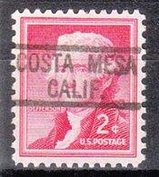 USA Precancel Vorausentwertung Preo, Locals California, Costa Mesa 819 - Vorausentwertungen