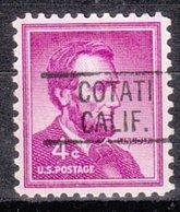 USA Precancel Vorausentwertung Preo, Locals California, Cotati 819 - Vorausentwertungen