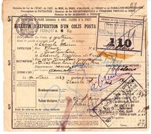 Bulletin D'expédition De Constantine à Chalon-sur-Saône (1923) +  étiquette Des Chemins De Fer Algériens - Algérie (1924-1962)
