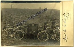 CPA Carte Photo Guerre 14-18 Militaire Régiment Vélo Cycliste Bike Military WW1 Alsace - Oorlog 1914-18