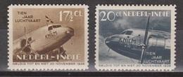 Nederlands Indie Netherlands Indies Dutch Indies 239-240 MNH ; 10 Jaar Indishe Luhtvaart 1938 - Indes Néerlandaises
