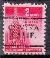 USA Precancel Vorausentwertung Preo, Locals California, Covina 701 - Vorausentwertungen