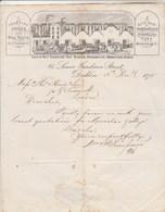 Irlande Royaume Uni Facture Lettre Illustrée 3/12/1875 W & P THOMPSON'S Counting House & Wine Vauts Duty Paid DUBLIN - Royaume-Uni