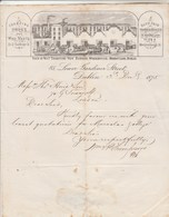 Irlande Royaume Uni Facture Lettre Illustrée 3/12/1875 W & P THOMPSON'S Counting House & Wine Vauts Duty Paid DUBLIN - Reino Unido