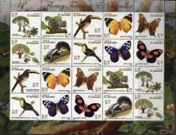 Salvador 2006 Fauna Butterflies Birds Minisheet MNH - Papillons