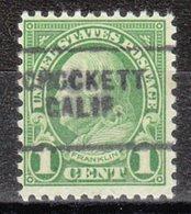 USA Precancel Vorausentwertung Preo, Locals California, Crockett 632-703 - Vorausentwertungen