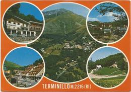 V3755 Monte Terminillo (Rieti) - Panorama Vedute Multipla / Viaggiata - Altre Città