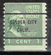 USA Precancel Vorausentwertung Preo, Bureau California, Culver City 839-61 - Vorausentwertungen