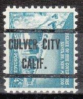 USA Precancel Vorausentwertung Preo, Locals California, Culver City 239 - Vorausentwertungen