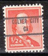 USA Precancel Vorausentwertung Preo, Locals California, Culver City 853 - Vorausentwertungen