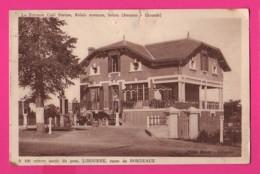 CPA (Réf Z 1046) (33 GIRONDE) (Aveyres, ARVEYRES La Terrasse Café Station Relais (vieux Poste Essences, Huiles Villla - Autres Communes
