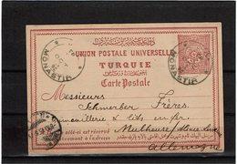 CTN55 - EMPIRE OTTOMAN EP CP CIRCULE MONASTIR / MULHOUSE OCTOBRE 1895 - 1858-1921 Empire Ottoman