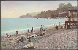The Beach, Dawlish, Devon, 1911 - Photochrom Postcard - England