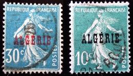 1924 Algérie Yt 8, 17   Type Semeuse - Oblitérés