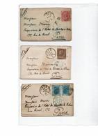CTN55 - ITALIE REGNE VEII - PETITE ARCHIVE FAMILIALE 1875/76 - 1861-78 Victor Emmanuel II