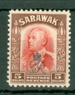 Sarawak: 1947   Charles Vyner Brooke 'Crown' OVPT  SG164     $5     MH - Sarawak (...-1963)