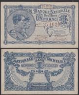 Billet De 1 Francs 22/03/20  (DD) DC1492 - [ 2] 1831-... : Royaume De Belgique