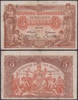 Billet De 5 Francs 25/01/19   (DD) DC1499 - [ 2] 1831-... : Royaume De Belgique
