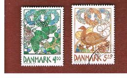 DANIMARCA (DENMARK)  -   SG 1164.1165 -  1999 HARBINGERS OF SPRING (COMPLET SET OF 2)          - USED ° - Usati