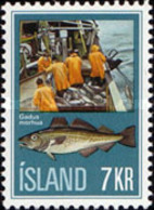 USED STAMPS Iceland - Fishing Industry  -1971 - Used Stamps