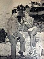 BARTALI CON FANCIULLA 1960 IMMAGINE DA CARTACEO D'EPOCA PICTURE OF VINTAGE PAPER - Immagine Tagliata