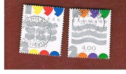 DANIMARCA (DENMARK)  -   SG 1185.1186   -  1999   NEW MILLENNIUM (COMPLET SET OF 2)       - USED ° - Usati