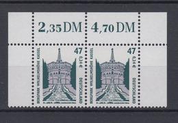 Bund 2176 SWK (XXV) 47 Pf/0,241 € Waagerechtes Paar Mit Eckrand Postfrisch - BRD