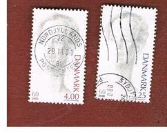 DANIMARCA (DENMARK)  -   SG 1191.1192   -  2000   60^ BIRTHDAY OF QUEEN MARGRETHE II (COMPLET SET OF 2)      - USED ° - Danimarca