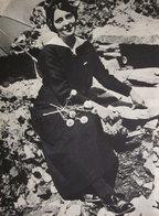 LA CALZA NERA IERI:  ALLA CAVIGLIA 1960 IMMAGINE DA CARTACEO D'EPOCA PICTURE OF VINTAGE PAPER - Immagine Tagliata