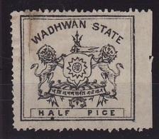 1888. India ( Wadhwan) - Unused Stamps