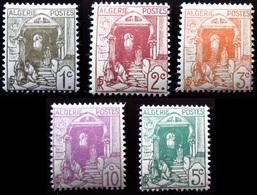 1926 Algérie Yt 34, 35, 36, 37, 38  . Street In The Casbah . Neufs Traces Charnières - Algérie (1924-1962)