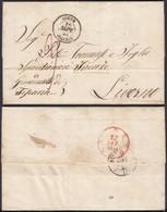 ALGERIE 1857 De ALGER 16/08/1857 Vers LIVOURNE ITALIE (6G23940) DC-1535 - Algérie (1924-1962)