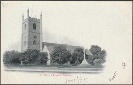 St Mary's Church, Reading, Berkshire, C.1905 - John Walker Postcard - Reading