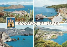MESSINA - Isole Eolie - Ricordo Di Lipari - 4 Vedute - Stemma Comunale - 1966 - Messina