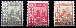 1926 Algérie Yt 39, 41, 45 . Mosque Of Sidi Abder Rahman. Neufs Traces Charnières - Algérie (1924-1962)