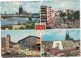 Köln: MERCEDES 180 & 170S, 2x OPEL OLYMPIA REKORD - LLOYD LT 500, FORD 15M & TAUNUS TRANSIT, VW T1-BUS - Toerisme
