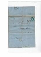 CTN55 - FRANCE CERES EM. BORDEAUX AMBULANT LE HAVRE A PARIS 20/4/1871 - 1870 Emission De Bordeaux