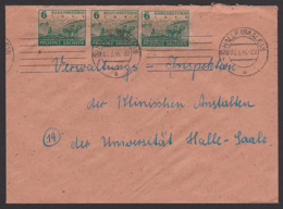 SBZ 6 Pfg.(3) Provinz Sachsen, Halle 6 Orts-Bf MiNr. 90, Bodenreform Zigarettenpapier - Sowjetische Zone (SBZ)