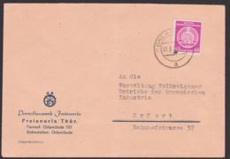 Freienorla Orla 48 Pf Dienstpost-Doppelbrief VEB Porzellanfabrik, 31.8.54, Schöne Einzelfrankatur - Dienstpost