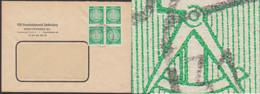 DDR Dienstpost-Brief 34A(4) OSt. Senftenberg Neuer Plattenfehler Wie Abgebildet Am Zirkelknopf - [6] Oost-Duitsland