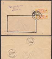 DDR ZKD B17L (2) Fern-Doppel-Brief Berlin DIA Glas - Keramik 1958, ZKD-Nr. 110, Zentraler Kurierdienst Der DDR - DDR