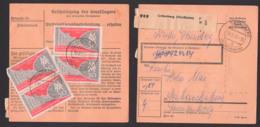 Grüneberg (Nordbahn) Paketkarte 19.8.1959 Mit 20 Pf(4) Leipziger Messe 1959 - Covers