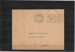 CTN55 - FRANCE ARC DE TRIOMPHE TYPE II 2fr SEUL SUR LETTRE 29/3/1945 - Francia