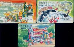 Hong Kong Autelca Magnetic Cards, Painting (3pcs) - Hong Kong