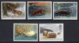 GREAT BRITAIN GB - 1992 FOUR SEASONS WINTERTIME SET (5V) FINE MNH ** SG 1587-1591 - 1952-.... (Elizabeth II)